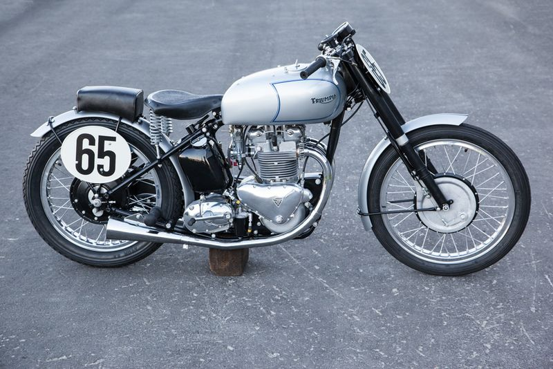 wayne 39 s triumph motorcycles tom ruttan s 1949 triumph grand prix replica going to auction in. Black Bedroom Furniture Sets. Home Design Ideas